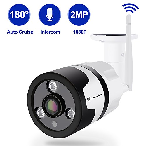 Fisheye Video (Luowice Wireless Security Camera Outdoor 1080P WIFI IP Camera 180 Degree Fisheye Panoramic Surveillance Video Camera Night Vision 50ft Waterproof)