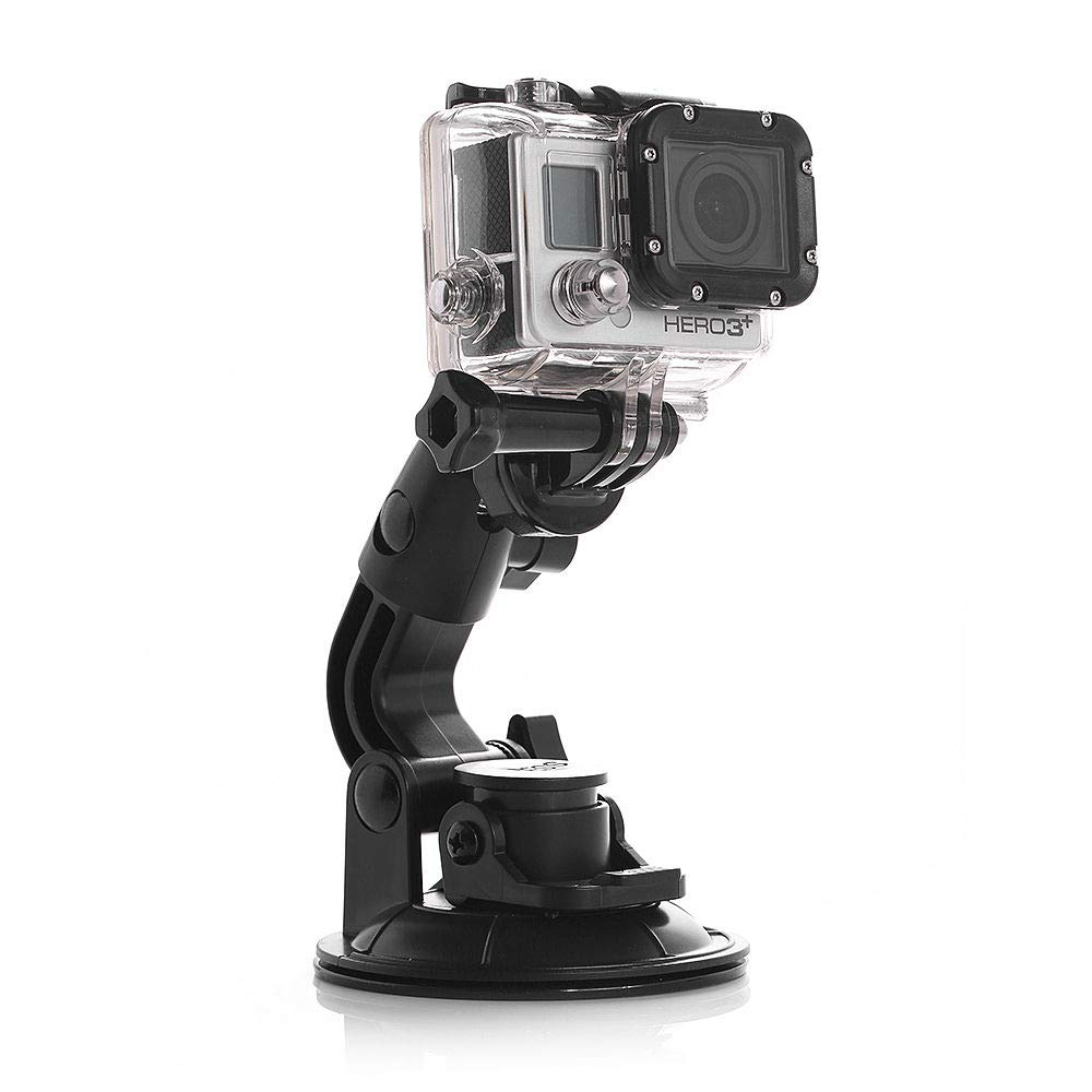 AxPower Car Suction Cup Mount for GoPro Hero 4 5 6 7 Black/Session, AKASO/Campark/YI Action Camera