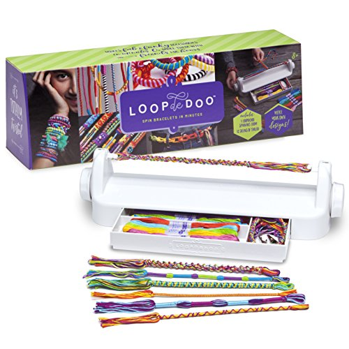 Loopdedoo - Spinning Loom Friendship Bracelet Maker - Award-Winning Craft Kit - Design Your Own Bracelets & Make Them In Minutes - New Edition]()