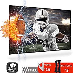 Projector Screen 120 Inch - DYD 4k HD Foldable Portable Indoor Outdoor Movie Screen for Home Theater Gaming Office, Anti-Crease, Support Double Sided Projection, Only 2.2 lbs