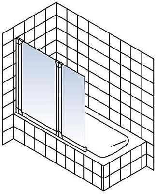 Schulte - Mampara plegable de bañera, reversible, 114 x 130 cm ...