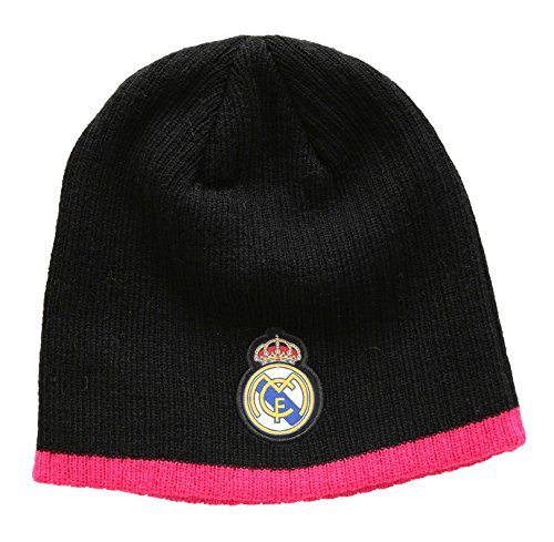 Real Madrid FC Football Soccer Men's Beanie Hat One Size Black/Pink