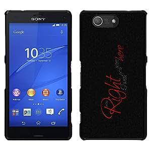For Sony Xperia Z3 Plus / Z3+ / Sony E6553 (Not Z3) , S-type Vorrei che tu fossi qui - Arte & diseño plástico duro Fundas Cover Cubre Hard Case Cover