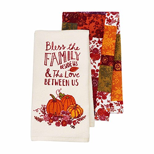 Fall Harvest Kitchen Dish Towels Set of 2 by Celebrate Fall Together - Bless the Family