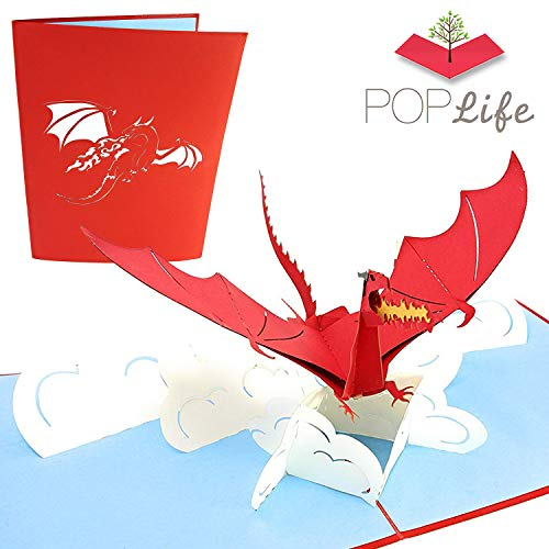 PopLife Red Flying Dragon 3D Pop Up Father