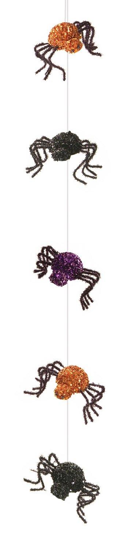 Mel Spider Purple orange Black 54 inch Foam and Wire Halloween Party Garland