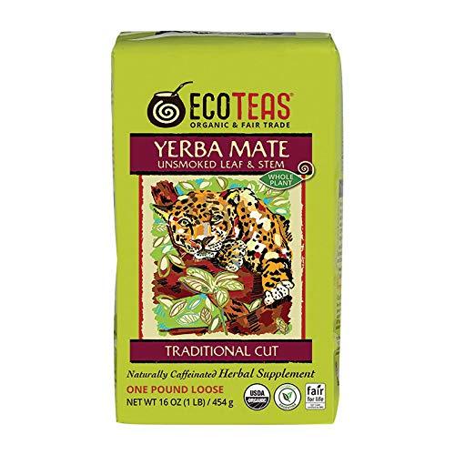 Eco Teas Organic Yerba Mate Unsmoked Loose Tea, 1 Pound - 6 per case.