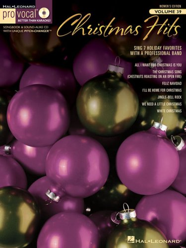 Christmas Hits Pro Vocal Songbook & Cd for Female Singers Volume 39 (Pro Vocal Women's (Christmas Songs Singers)