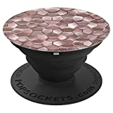 Pop Socket Cell Phones Collapsible holder Rose Gold shape - PopSockets Grip and Stand for Phones and Tablets