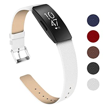 KIMILAR Compatible con Fitbit Inspire/Inspire HR Correa Cuero, Tartán Correa de Recambio Reemplazo de Banda de la Muñeca Pulseras para Fitbit Inspire ...