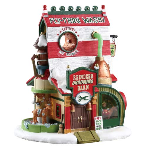 Lemax Santa's Wonderland Collection, Reindeer Grooming Barn, #75293 ()