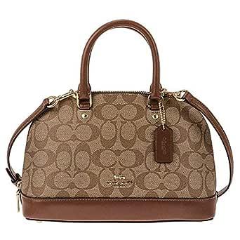 Coach F27583 Mini Sierra Satchel Bag for Women - Leather, Beige