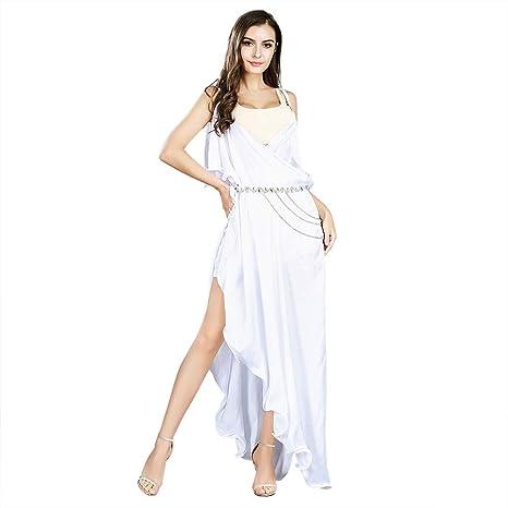 ROYAL SMEELA Blanco Vestido de la Correa de Espagueti Deep V ...