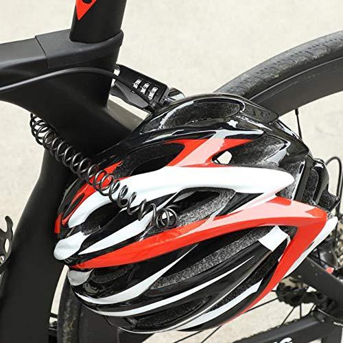 Suzanne.XY Motorhelm Lock Hangslot met Anti-diefstal 4 Cijfer Combinatie Wachtwoord Draagbare Bike Motorhelm