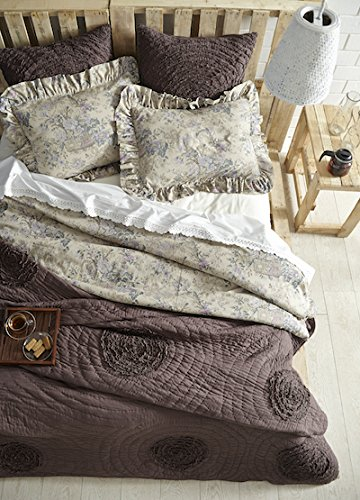 Be-you-tiful Home Plumeria Queen Quilt Set with 2 Standard Shams