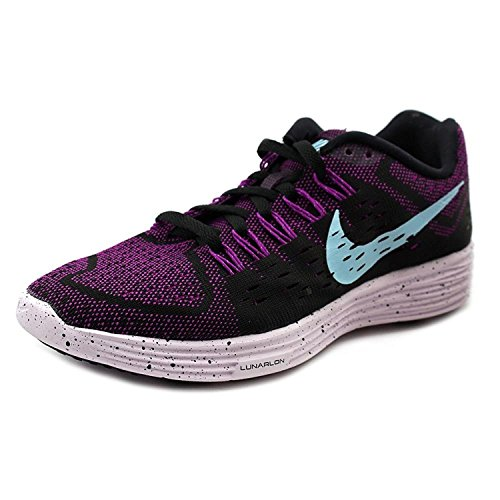 Nike Womens Lunar Tempo Running Shoes, VIVID PURPLE/COPA-BLACK-LGHT VIOLET, 35.5 B(M) EU/2.5 B(M) UK