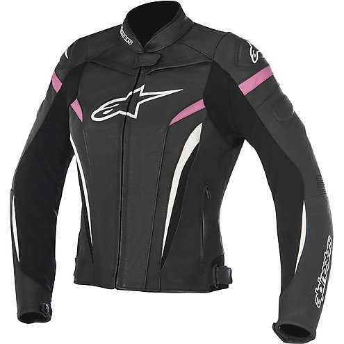 Alpinestars Stella GP Plus R V2 Leather Jacket Black/White/Pink Womens Size 2