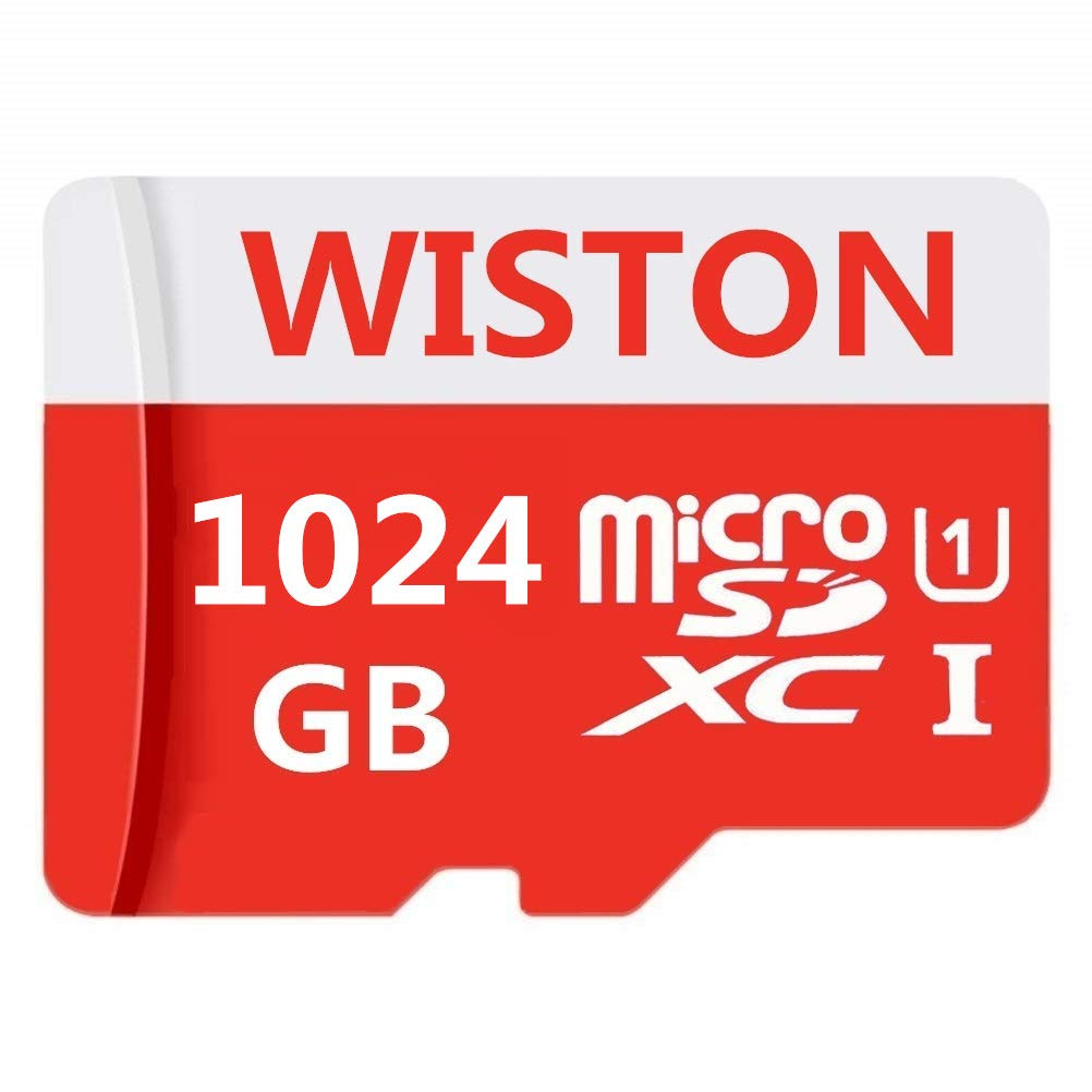 Tablets Class 10 SDXC Memory Card with Adapter 1024gb High Speed 1024GB Micro SD Card Designed for Android Smartphones