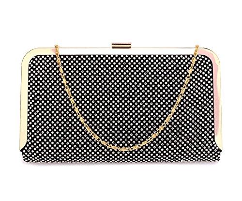 LeahWard Diamante Clutch Bag Damen für Hochzeit Abend Handtasche 365 (SCHWARZ) SCHWARZ lOJ8WSafK