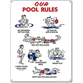 Poolmaster 40341 Shallow Water No Diving Sign