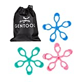 Gentool Finger Resistance Bands Hand Stretcher Grip Fidget Strengthener Therapy Trainer Extension Bands Improve Dexterity - Thermoplastic Rubber Set of 3 - Arthritis Guitar Carpal Tunnel Exercise