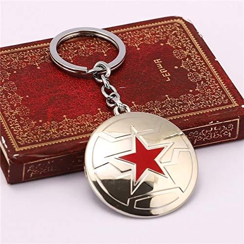 Value-Smart-Toys - 12pcs/lot Captain America Keychain The Winter Soldier Enamel Shield Star Logo Cool Men Key Chains Ring For Men Car Women Bag
