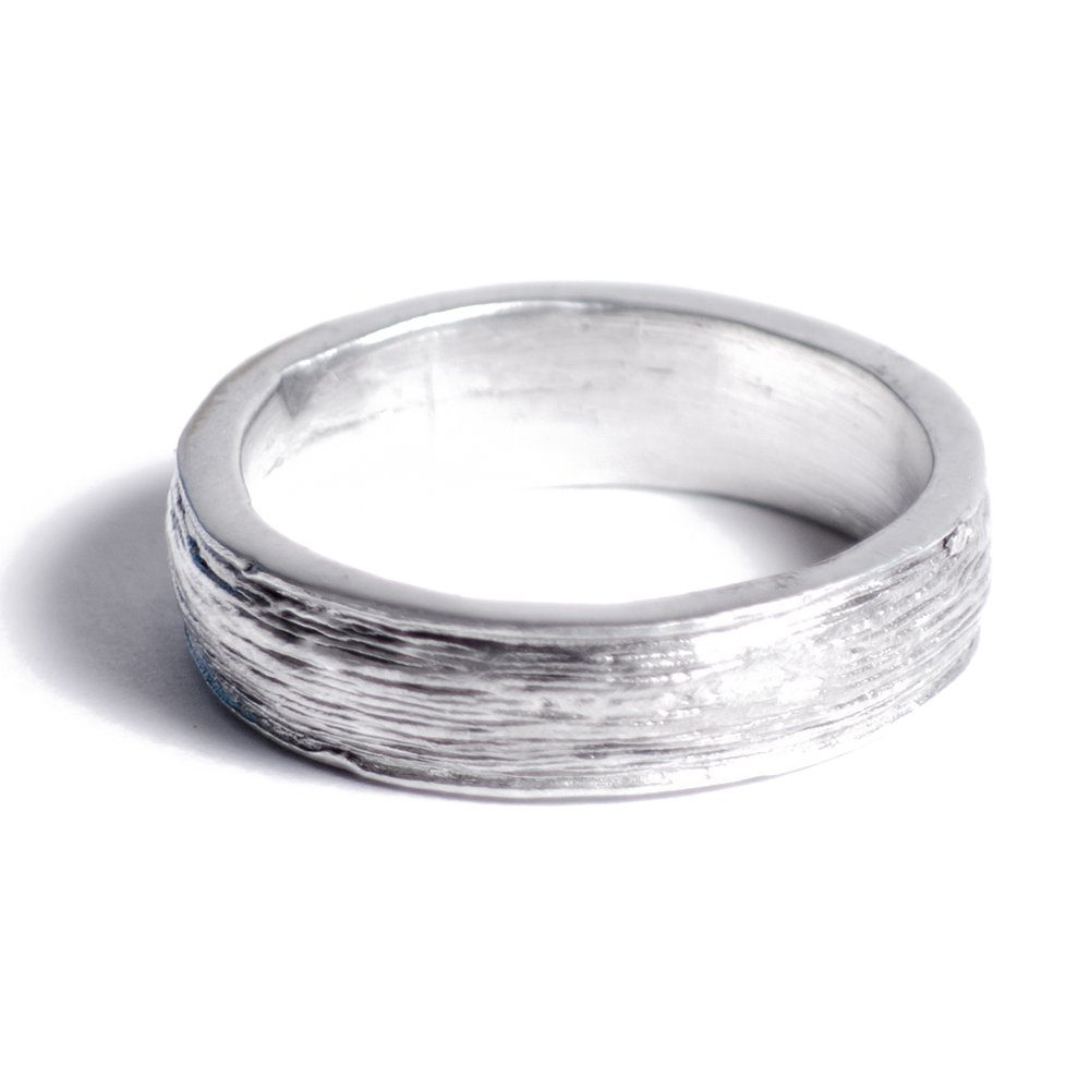 10th Anniversary Tin Ring - Mens - Inscribed with Ten Years, Free Reszie (9)