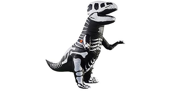 NON MagiDeal Traje Inflable de Dinosaurio Esqueleto T-Rex Inflable ...