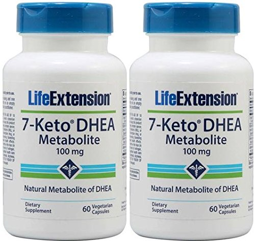 Life Extension 7-Keto DHEA 100 Mg, 60 vegetarian capsules (120) For Sale