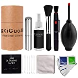 24Pcs Camera Cleaning Kit - Cleaning Cloth, Lens Cleaning Paper, Cleaning Fluid, Wipes, Brush, Air Blower, Cotton Swabs, Storage Box for DSLR Cameras/Optical Lense/Electronics, Cleaning set Compatible with Most Cameras Canon Rebel EOS, Nikon, Olympus, Sony Alpha NEX, Samsung NX Fuji DSLR