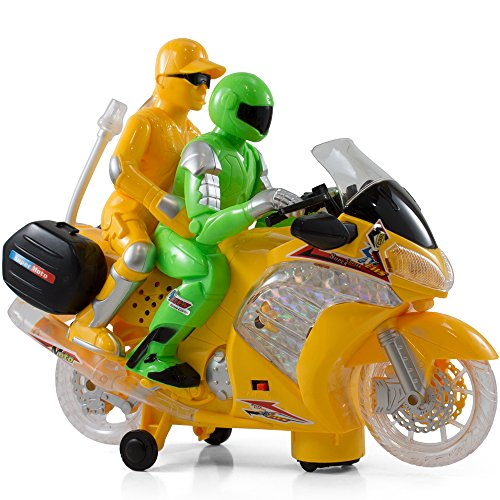 Kidsthrill Bump And Go Motorbike – flashing Lights - Changes Direction On Contact - Best For Kids Age 3 And Up.