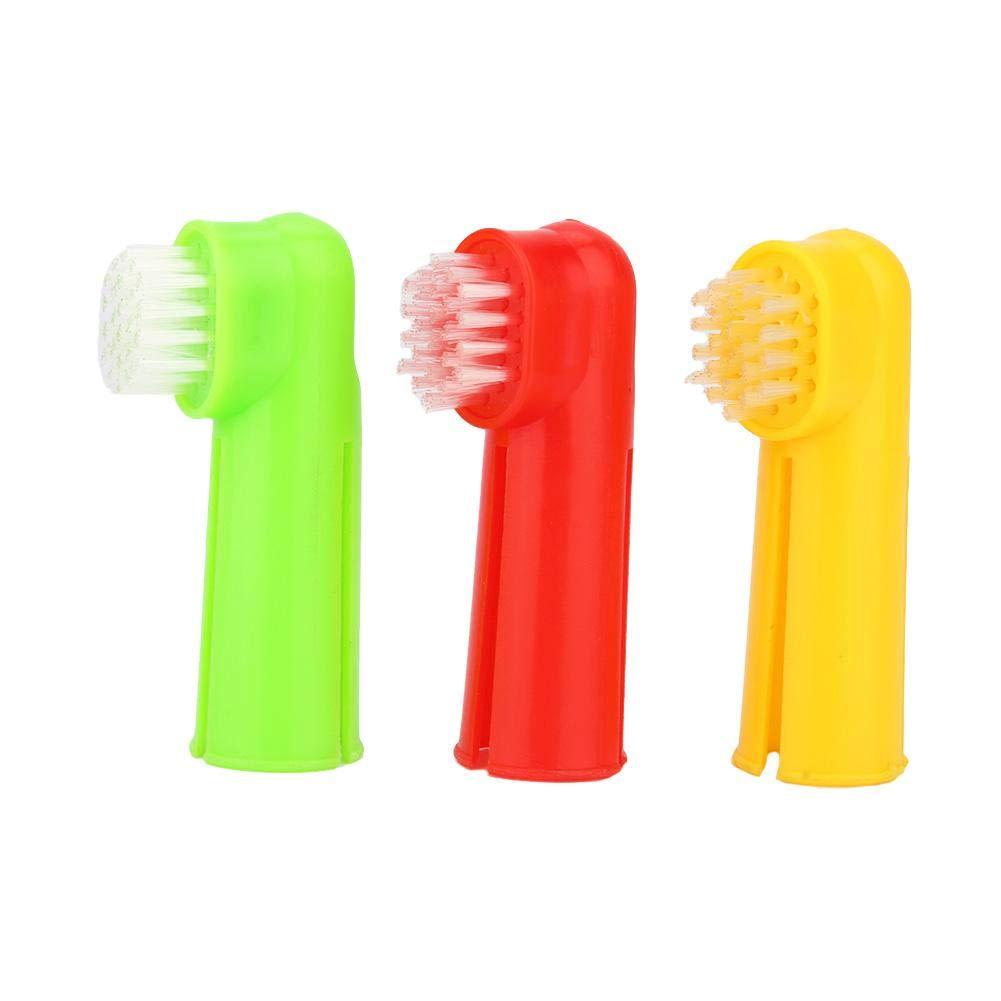 GLOGLOW El Cepillo de Dientes del Dedo del Animal doméstico, Perro Suave acaricia el Cepillo Dental Oral La Limpieza del Diente El Cuidado Dental Ayuda ...