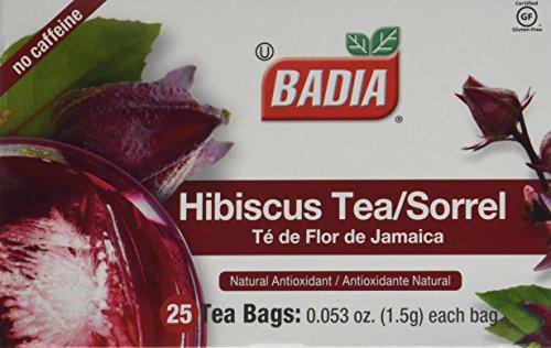 Badia Hibiscus Tea, 2 Pack (Each 25 Bags) - Badia Tea