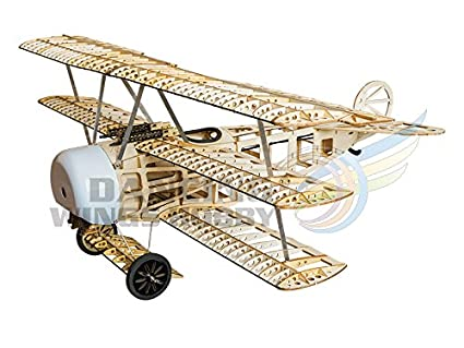 DW Hobby Balsawood Building Triplane Fokker DR I Wood Laser-cutting  Airplane with 770mm Wingspan Laser cut Aircraft Model KIT S1701