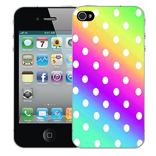 Mobile Case Mate iPhone 5 Silicone Coque couverture case cover Pare-chocs + STYLET - Multi Colour Polka pattern (SILICON)