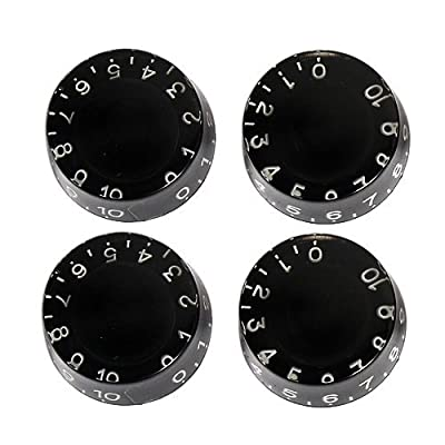 4pcs Speed Control Knobs Black for Gibson Les Paul Replacement Electric Guitar Parts