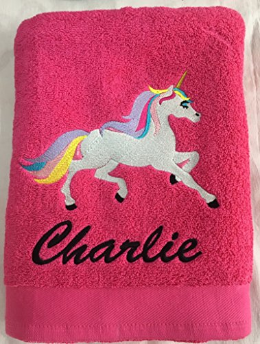 Bath Towel Hen Holiday Red Dragon Embroidery Design Personalised Pink Cocktail Beach
