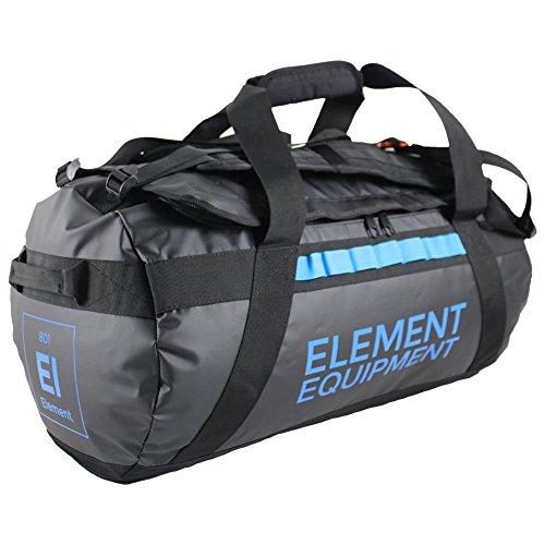 (Element Equipment Trailhead Duffel Bag Shoulder Straps Waterproof Black Medium)