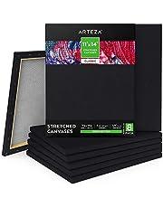 Arteza Black Stretched Canvas