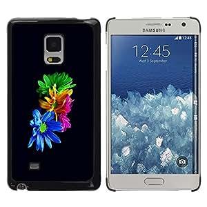 LECELL--Funda protectora / Cubierta / Piel For Samsung Galaxy Mega 5.8 -- Flores coloridas --