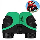 Kids Toys, Binoculars for Kids, TOG Gift Toys for 3-12 Year Old Boys 8x21 Compact Mini Small Binoculars for Birding Wide Field of view Green TG01