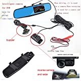 Cheap 4.3inch TFT blue mirror Car DVR 2 in 1 Full HD 1080P wide-angle lens car DVR Vehicle blackbox DVR HD rear view camera with parking sensor night vision car driving recorder-PZ452