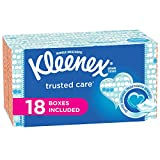 #6: Kleenex Trusted Care Everyday Facial Tissues, Flat Box, 210 Tissues per Flat Box, 18 Packs