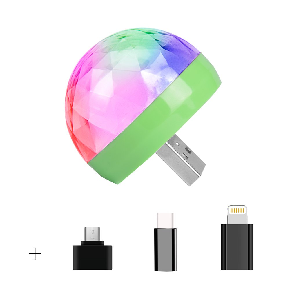 ngsgoods  NGSGOODS Mini usb - disco - licht, Tragbares heim - party licht, DC ...
