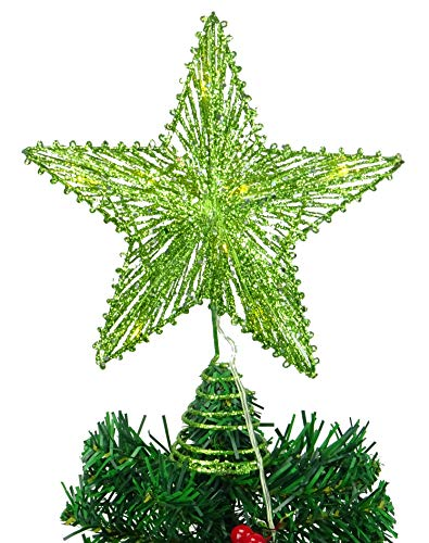 Christmas Concepts 10 Lime Green Springy Star with Warm White Led Lights - Christmas Tree Top Star/Christmas Decoration