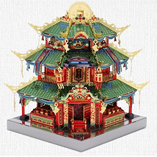 MU Tower of Treasure Architecture 3D Metal Model Kits DIY Assemble Puzzle Laser Cut Jigsaw Toys YM-N079-C