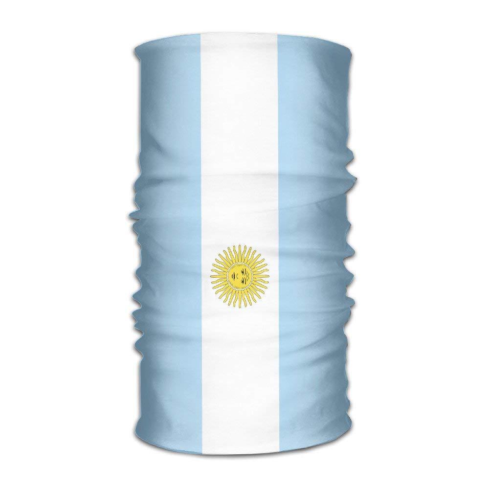 DEFFWBb Headband Bandanas Argentina Versatile Sports Magic Scarf Neck Gaiter Balaclava Helmet Liner Riding Face Mask For Kids Women Men Outdoors UV Protection