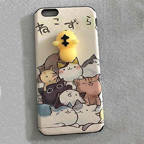 Pinzhi Pinzhi 3D Nizza Weiche Silikon Pappy Squishy Katze für iPhone 6 6s Case Gelbe Rumpf Handy Shell Art