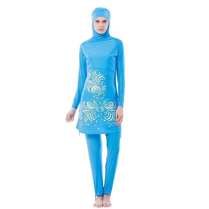 82441484222244 Hzjundasi musulmano 2-pezzi Copertura completa Protezione solare Hijab  Swimwear islamico arabo Donne Estate Allegato Cap Burkini Swimsuit Middle  East ...
