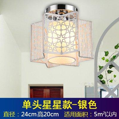 BGmdjcf Lighting Fixture round ceiling light room lamp light warm romantic bedroom modern minimalist led lights , restaurant single head Silver Star) /20cm Bulb